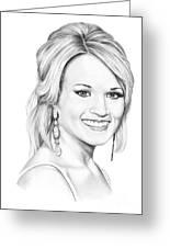 Carrie Underwood Greeting Card by Murphy Elliott