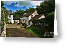 Cartwheel Cottages Greeting Card by Kim Shatwell-Irishphotographer