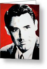 Cary Grant Greeting Card by Luis Ludzska