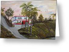 Casa En Montanas De Cerro Gordo Greeting Card by Gloria E Barreto-Rodriguez