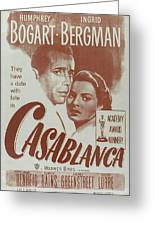 Casablanca Greeting Card by Georgia Fowler