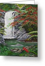 Cascada Tropical Greeting Card by Luis F Rodriguez