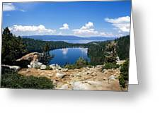 Cascade Lake And Lake Tahoe Greeting Card by Troy Montemayor