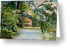 Cascadilla Boathouse Ithaca New York Greeting Card by Ethel Vrana