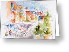 Cassis Along The Promenade Greeting Card by Pat Katz