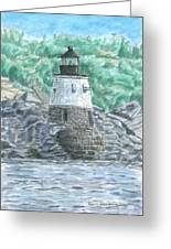 Castle Hill Lighthouse Greeting Card by Dominic White