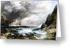 Castle In Scotland Greeting Card by Thomas Moran