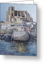 Castro Urdiales Greeting Card by Tomas Castano