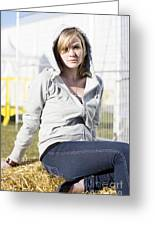 Casual Country Girl Greeting Card by Jorgo Photography - Wall Art Gallery