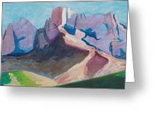 Catalina Blue Greeting Card by Mordecai Colodner