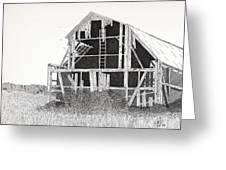 Catawba Barn Greeting Card by Pat Price