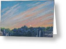 Catching The Sunset Greeting Card by Penny Neimiller