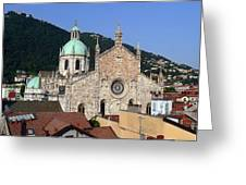 Cathedral Of Como Greeting Card by Lia Attelram
