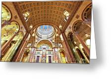 Cathedral Of St. Matthew Viii Greeting Card by Irene Abdou