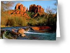 Cathedral Rock At Redrock Crossing Greeting Card by Crystal Garner