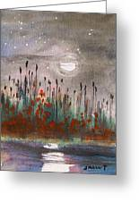 Cattails And Stars Greeting Card by John  Williams
