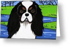 Cavalier King Charles Spaniel Greeting Card by Leanne Wilkes