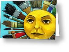 Cbs Sunday Morning Sun Art Greeting Card by Linda Apple