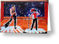 Cd Cover Design Jazz Dancers Greeting Card by Sandra Longmore
