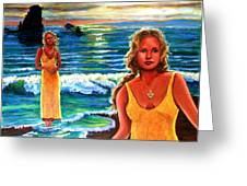 Cd Cover  The Painter Greeting Card by Sandra Longmore
