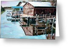 Cedar Key Reflections 2 Greeting Card by Greg Morris