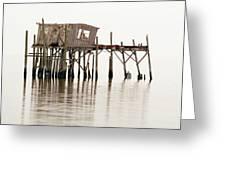 Cedar Key Structure Greeting Card by Patrick M Lynch
