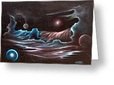 Celestial Wave Greeting Card by David Gazda