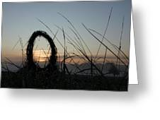 Celtic Circle Dawn-05 Greeting Card by Pat Bullen-Whatling