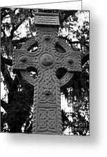 Celtic Cross In Emmet Park Greeting Card by Carol Groenen