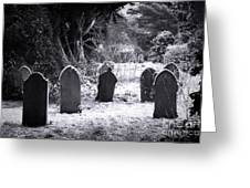 Cemetery And Snow Greeting Card by Jane Rix