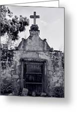 Cemetery At Mission Santa Barbara I Greeting Card by Steven Ainsworth