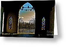 Cemetery Chapel 2 Greeting Card by E Robert Dee