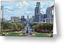 Center City Philly Greeting Card by Kevin  Sherf