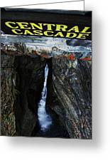 Central Cascade Bridge View Greeting Card by InTheSane DotCom