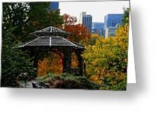 Central Park Gazebo Greeting Card by Christopher Kirby