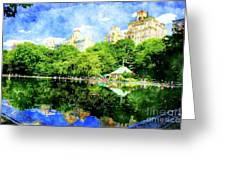 Central Park Greeting Card by Julie Lueders