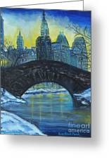 Central Park Greeting Card by Nancy Rucker