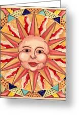 Ceramic Sun Greeting Card by Anna Skaradzinska