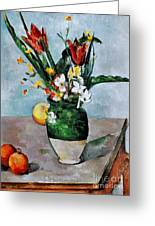 Cezanne: Tulips, 1890-92 Greeting Card by Granger