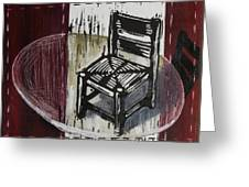 Chair Vi Greeting Card by Peter Allan