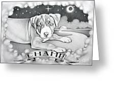 Champ Greeting Card by Robert Ball