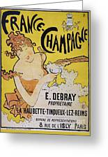 Champagne Poster, 1891 Greeting Card by Granger