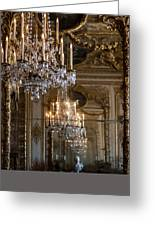 Chandelier At Versailles Greeting Card by Georgia Fowler