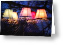 Chandelier In The Trees Greeting Card by Peter  McIntosh