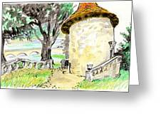 Chapel On Estate River Greeting Card by Tilly Strauss