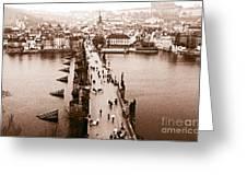 Charles Bridge II Greeting Card by John Rizzuto