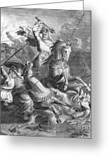 Charles Martel, Battle Of Tours, 732 Greeting Card by Photo Researchers