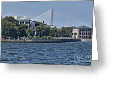 Charleston Battery Row And Bridge Greeting Card by Dustin K Ryan