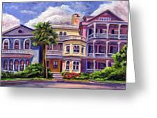 Charleston Houses Greeting Card by Jeff Pittman