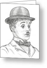 Charlie Chaplin Greeting Card by Steven White